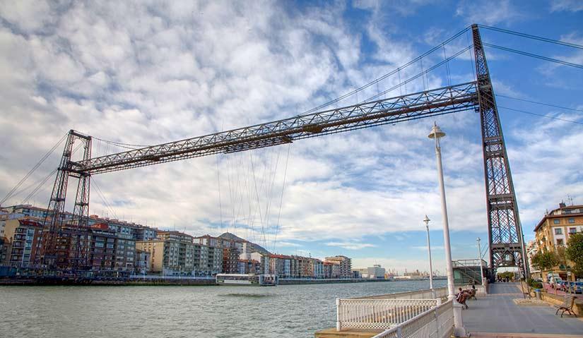 Puente colgante de Vizcaya. Puente Colgante y Desembocadura de la Ría